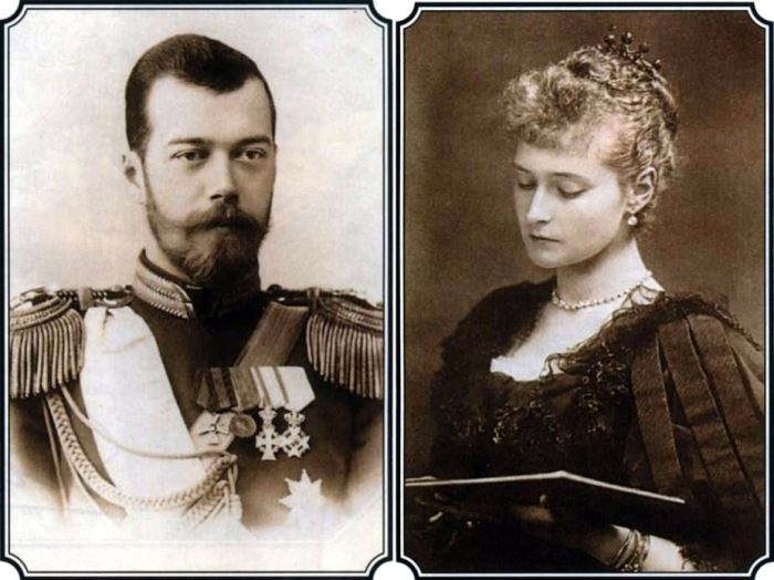 Царь Николай ІІ и царица Александра Федоровна Романовы | Фото: retrobazar.com