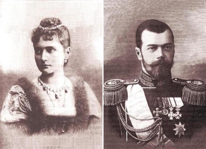 Императрица Александра Федоровна и император Николай ІІ | Фото: retrobazar.com