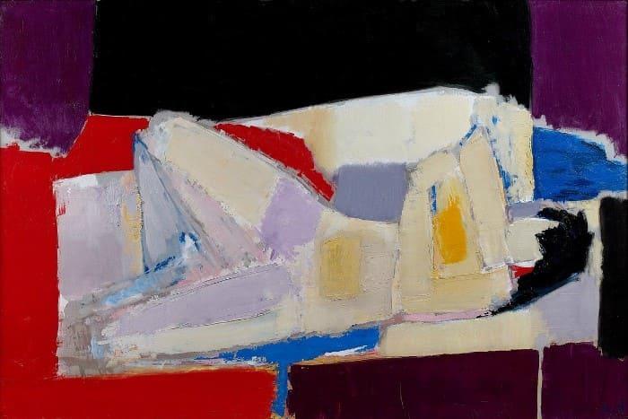 Николя де Сталь. Лежащая обнаженная, 1954 | Фото: wikiart.org