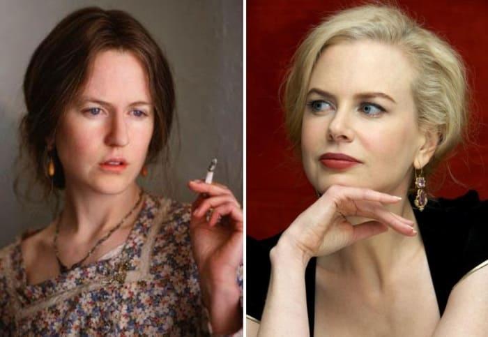 В роли Вирджинии Вульф актриса была абсолютно неузнаваема | Фото: kino-teatr.ru, 24smi.org