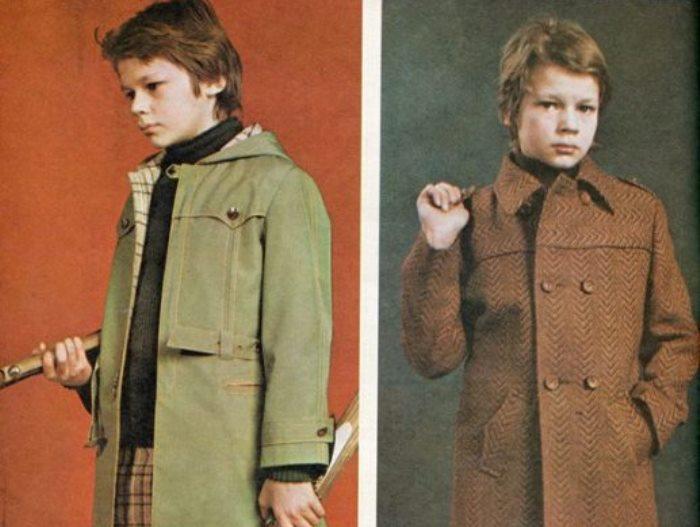 Никита Михайловский демонстрирует детскую одежду в журнале мод 1970-х гг. | Фото: kino-teatr.ru