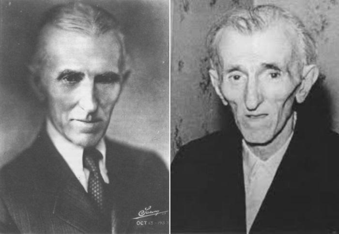 Никола Тесла, 1933 и 1943 гг. | Фото: teslauniverse.com