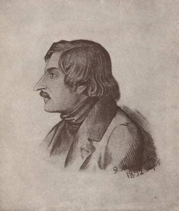 Н. В. Гоголь. Литография Э. Дмитриева-Мамонова, 1840-е | Фото: ec-dejavu.ru