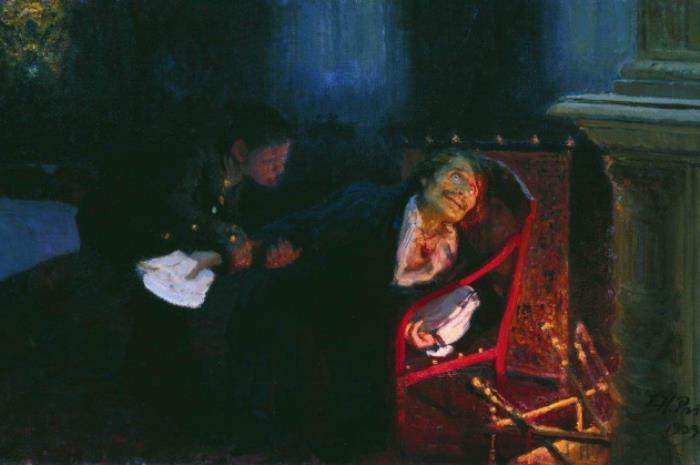 И. Репин. Самосожжение Гоголя, 1909 | Фото: ilya-repin.ru