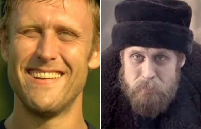 Кадры из фильмов *Ванька Грозный*, 2008, и *Котовский*, 2009