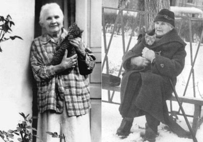 Вдова писателя Александра Грина, 1960-е гг. | Фото: 1k.com.ua и grinlandia.narod.ru
