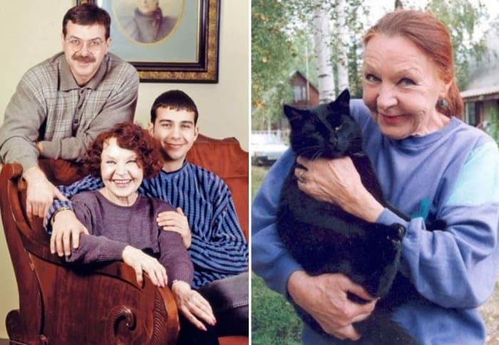 Нина Ургант с сыном Андреем и внуком Иваном | Фото: kino-teatr.ru