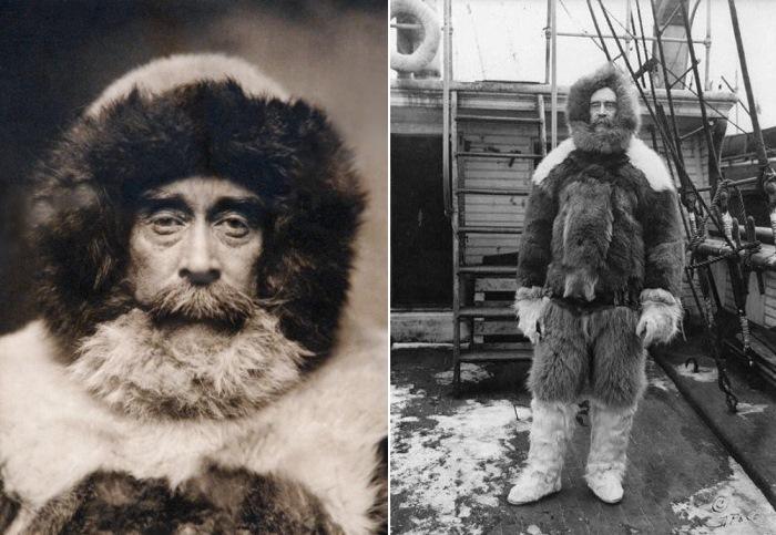 Претендент на роль первооткрывателя Северного полюса Роберт Пири | Фото: disgustingmen.com и de.academic.ru