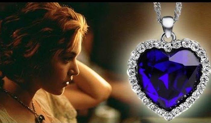 Кулон *Сердце океана* на героине фильма *Титаник* | Фото: tiu.ru