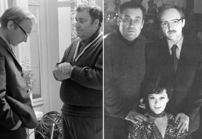 Режиссер и актеры на съемках фильма *Служебный роман*, 1977 | Фото: liveinternet.ru