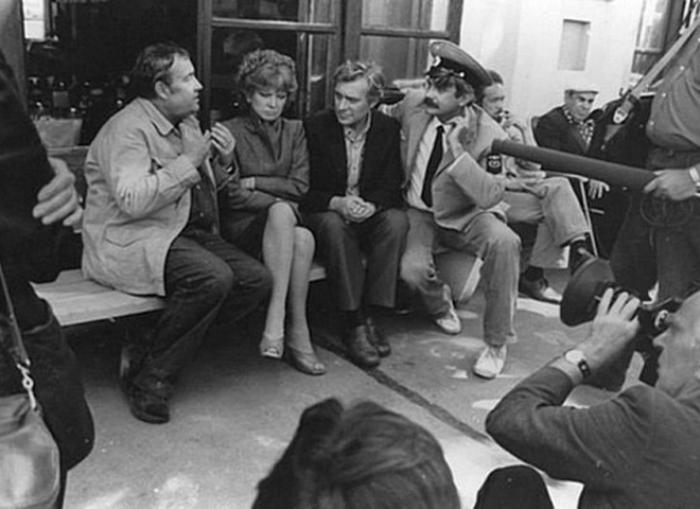 На съемках фильма *Вокзал для двоих*, 1982 | Фото: izvestia.kiev.ua