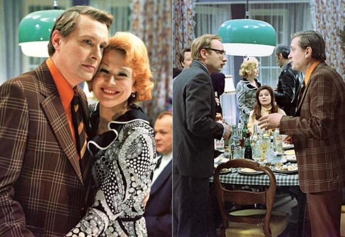 Кадры из фильма *Служебный роман*, 1977 | Фото: fb.ru и tvcenter.ru