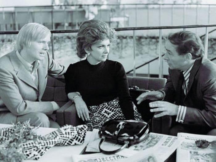 Олег Видов, Джина Лоллобриджида и Вячеслав Тихонов. ММКФ, 1973 | Фото: kino-teatr.ru
