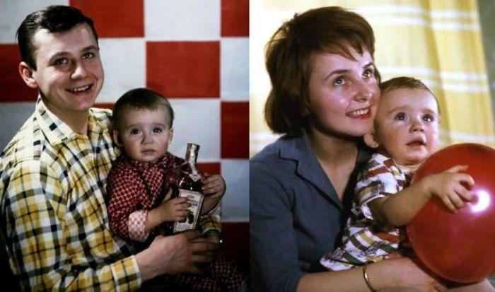 Олег Табаков с первой женой, Людмилой Крыловой, и сыном Антоном | Фото: uznayvse.ru
