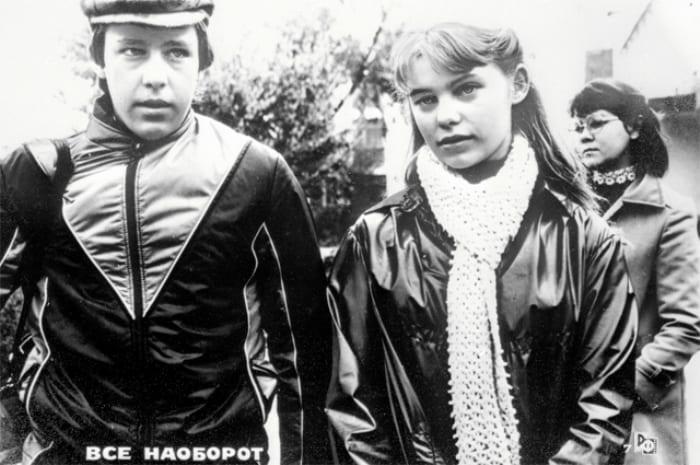 Михаил Ефремов и Ольга Машная на съемках фильма *Все наоборот*, 1981 | Фото: aif.ru