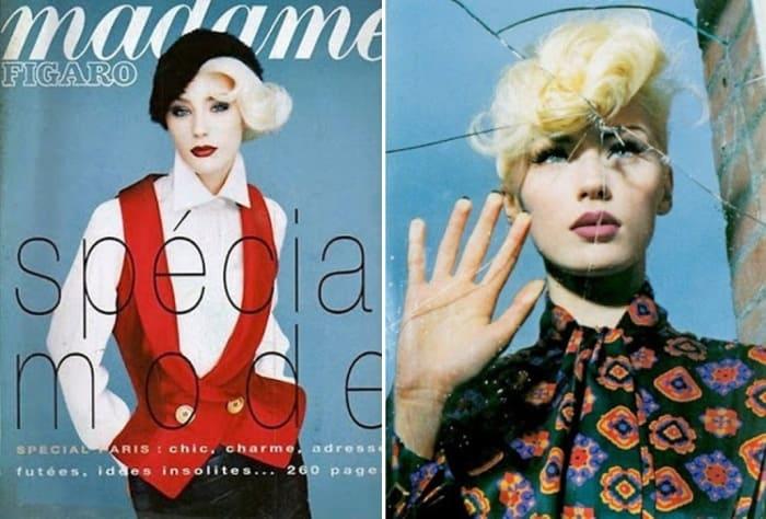 Модель в журналах середины 1990-х гг. | Фото: vsenashimiss.blogspot.com
