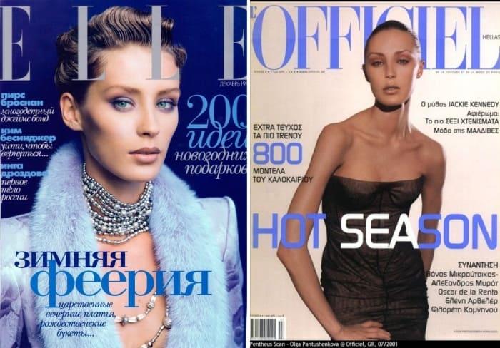 Ольга Пантюшенкова на обложках журналов | Фото: mylitta.ru