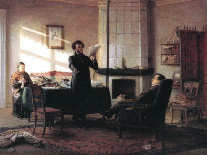 Н. Н. Ге. Пушкин в селе Михайловском, 1875 | Фото: pushkin.niv.ru