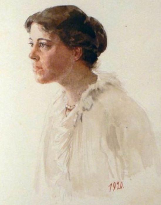О. Куликовская-Романова. Автопортрет, 1920 | Фото: artchive.ru