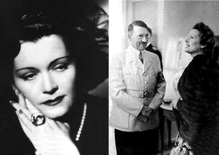 Ольга Чехова с Адольфом Гитлером | Фото: kinopoisk.ru и subscribe.ru