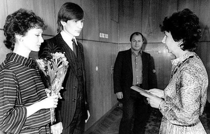 Свадьба Ольги Зарубиной с Александром Малининым, 1983   Фото: kino-teatr.ru