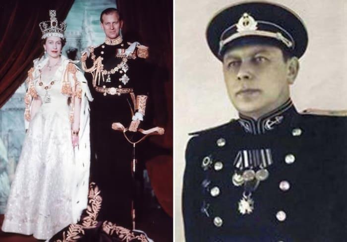 Елизавета II, герцог Эдинбургский и капитан Рудаков | Фото: moremhod.info, teleprogramma.pro