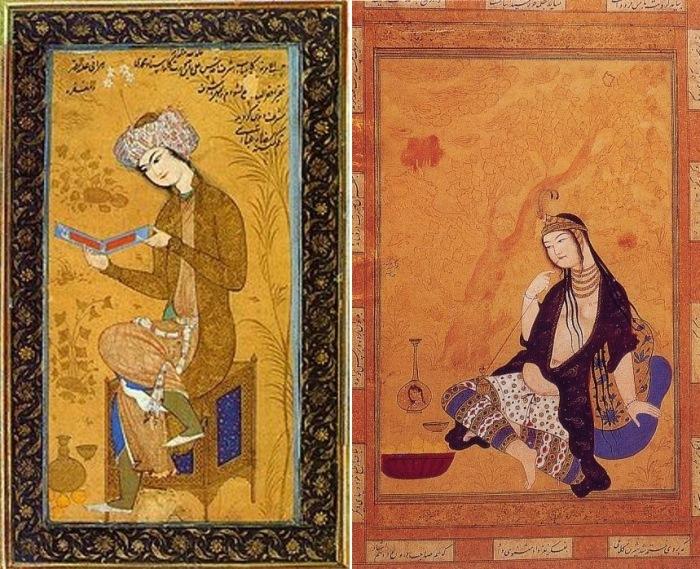 Персидские миниатюры XVII в.