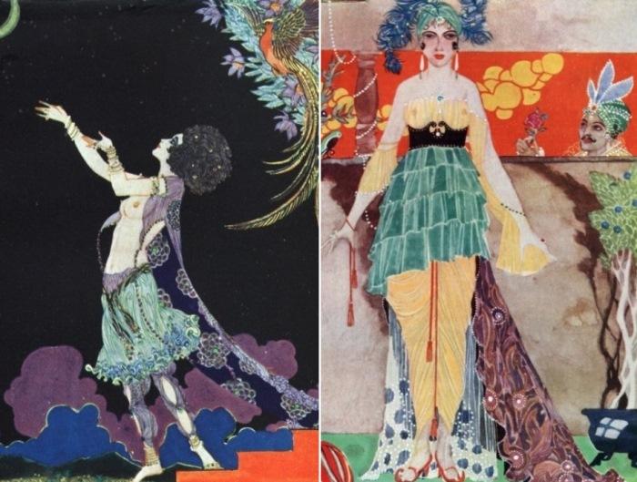 Иллюстрации Рональда Бэлфура к *Рубаи* Омара Хайяма, 1920