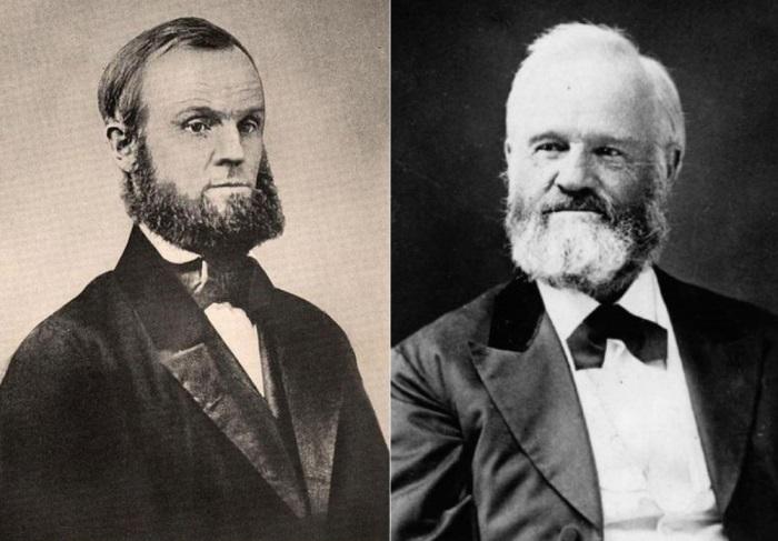 Основатель общины *Онеида* Джон Хамфри Нойес, 1850 и 1867 гг. | Фото: alchetron.com