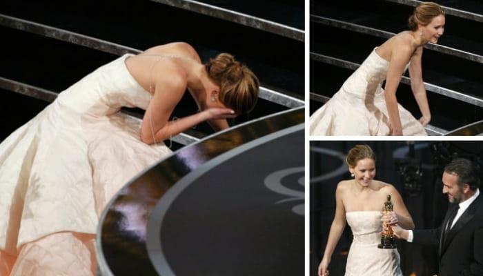 *Самая неуклюжая победительница* Дженнифер Лоуренс | Фото: yesmagazine.ru