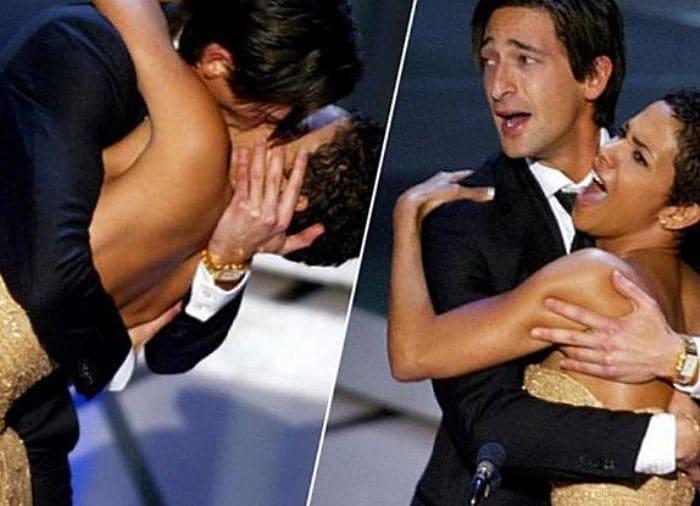 Эдриан Броуди и Холли Берри вошли в историю кинопремии благодаря долгому и страстному поцелую на сцене | Фото: batop.ru