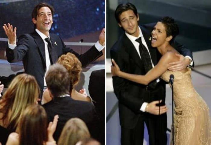 Эдриан Броуди и Холли Берри вошли в историю кинопремии благодаря долгому и страстному поцелую на сцене | Фото: topnews.ru