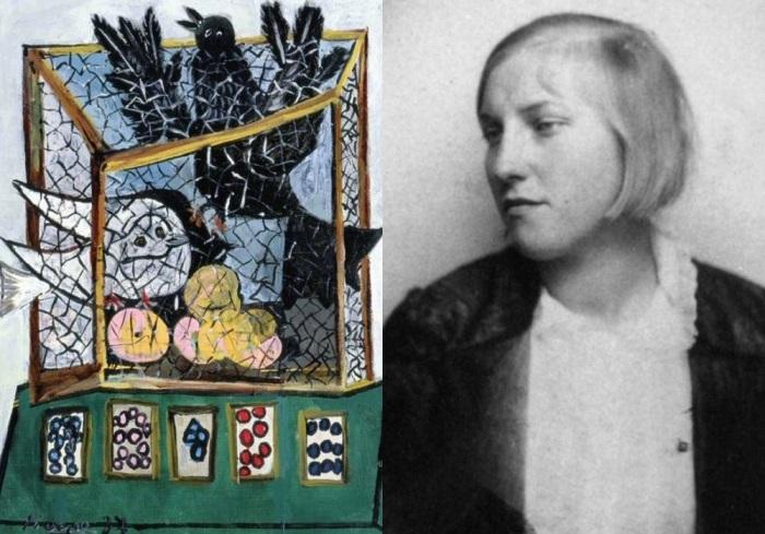 Слева – Пикассо. Птицы в клетке, 1937. Справа – Мария-Тереза Вальтер | Фото: artchive.ru