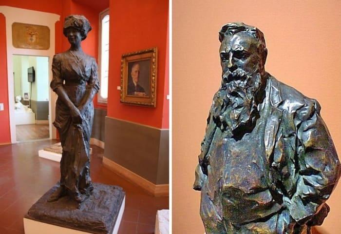 П. Трубецкой. Слева – Портрет жены. Справа – Портрет О. Родена | Фото: liveinternet.ru