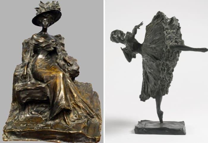 П. Трубецкой. Слева – Сидящая дама. Справа – Балерина | Фото: liveinternet.ru