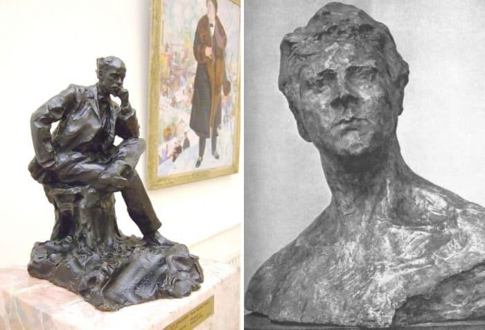 П. Трубецкой. Слева – Портрет Исаака Левитана, 1899. Справа – Портрет Ф. Шаляпина, 1899-1900 | Фото: liveinternet.ru