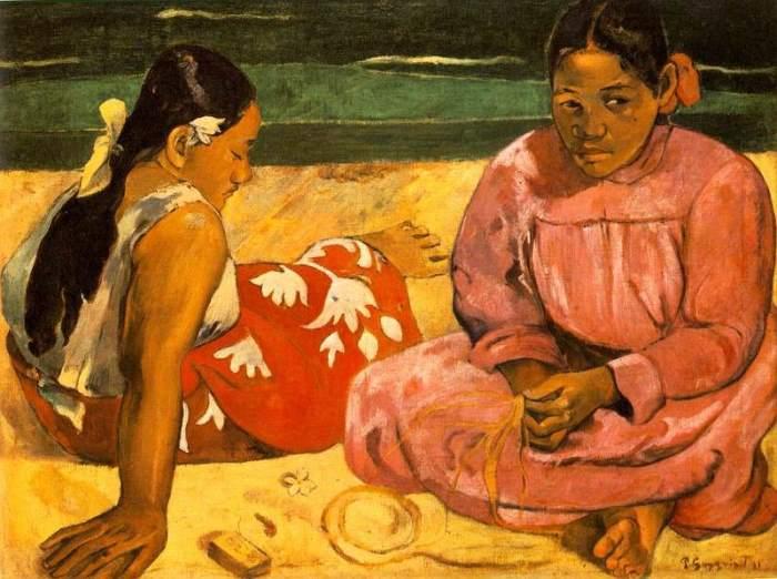 Поль Гоген. Таитянские женщины на пляже, 1891 | Фото: gallerix.ru