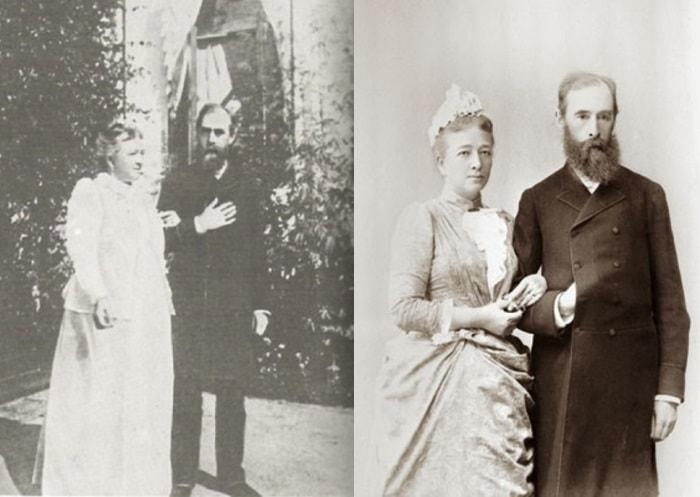 Павел Третьяков с женой Верой | Фото: radikal.ru и kommersant.ru