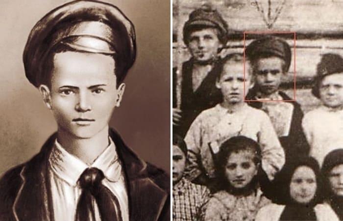 Портрет Павлика Морозова, созданный на основе единственной известной его фотографии | Фото: aif.ru