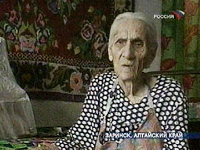 В 116 лет Пелагея Закурдаева дала интервью тележурналистам | Фото: newsru.com