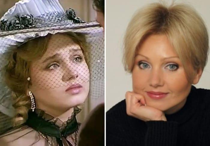 Ирина Климова в сериале *Петербургские тайны* и в наши дни   Фото: kino-teatr.ru
