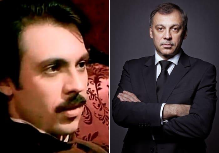 Сергей Чонишвили в сериале *Петербургские тайны* и в наши дни   Фото: kino-teatr.ru