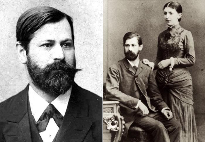 Зигмунд Фрейд с невестой Мартой Бернейс, 1884 г. | Фото: gideonquerido.com и psychologos.ru