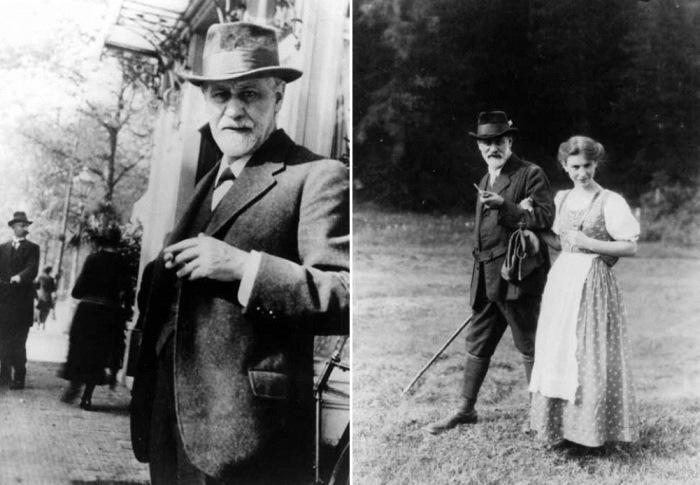 Зигмунд Фрейд с дочерью Анной, 1928 г.   Фото: rudocs.exdat.com и psychoanalyse.ru