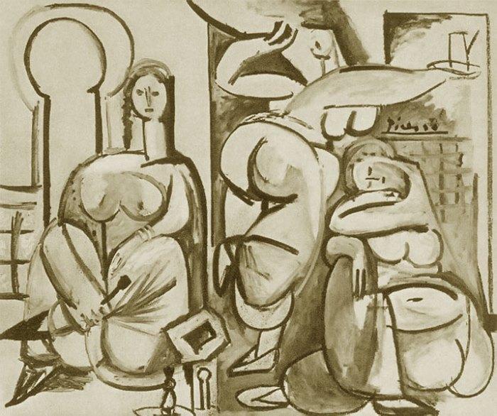 Пабло Пикассо. Алжирские женщины (Версия В), 1954 г.