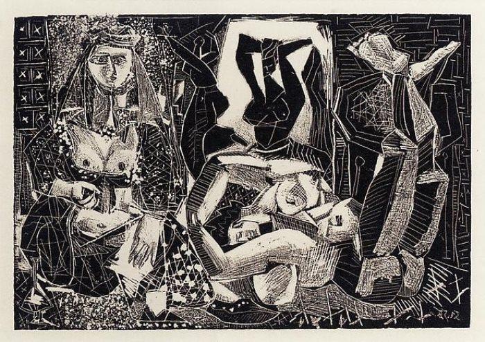 Пабло Пикассо. Алжирские женщины. Литография *2*, 1955 г.