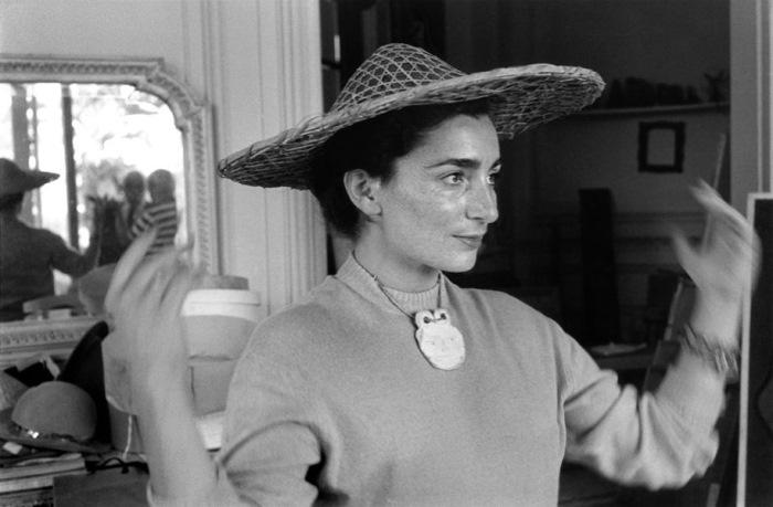 Жаклин Рок в соломенной шляпке, 1957 г. Фото Рене Бурри