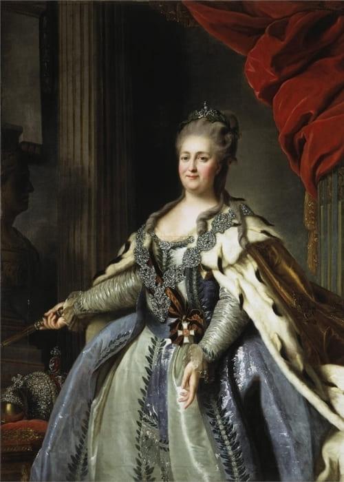 Ф. Рокотов. Портрет Екатерины II, 1780-е гг. | Фото: muzei-mira.com