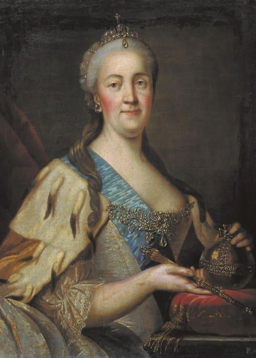 И. Саблуков. Портрет Екатерины II, 1770-е гг. | Фото: aria-art.ru