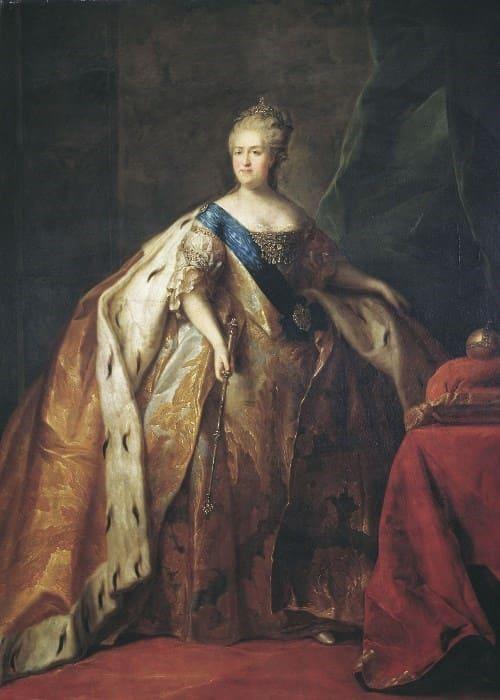 П. Дрождин. Портрет Екатерины II, 1796 | Фото: aria-art.ru